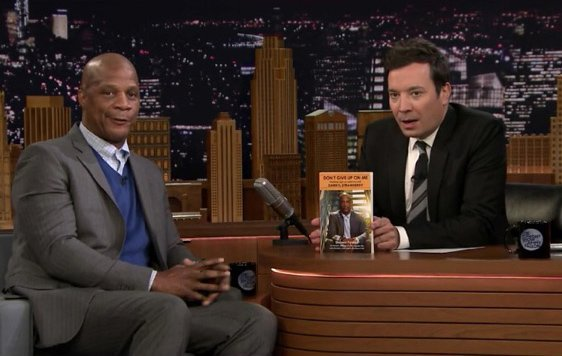 Darryl Strawberry and Jimmy Fallon