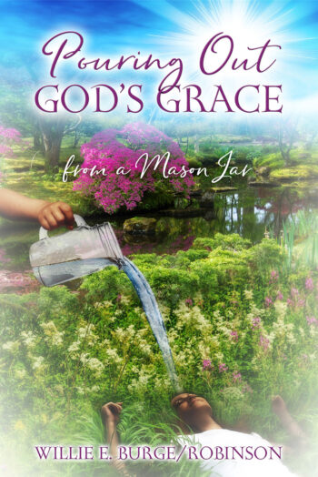 Pouring out god's grace from a mason jar